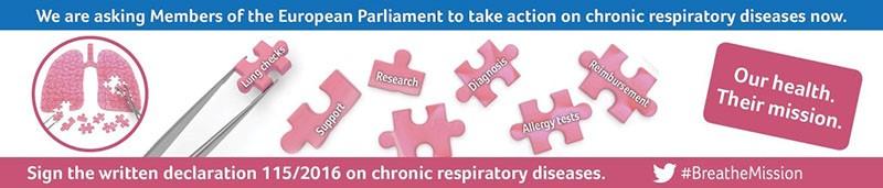 European Parliament 115/2016 Written Declaration on Chronic Respiratory Diseases icon